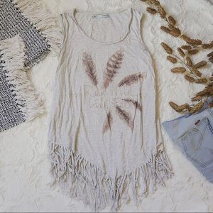 Maurices Boho Tassel Tank with Graphics